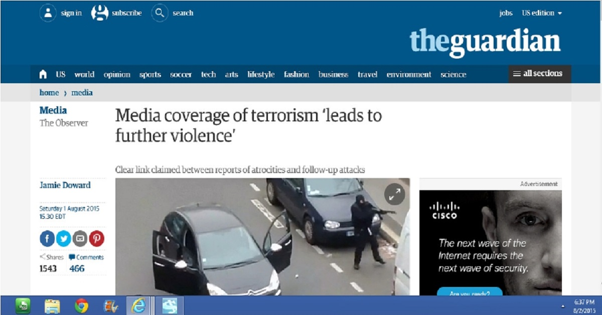 Violence leads to further violence?