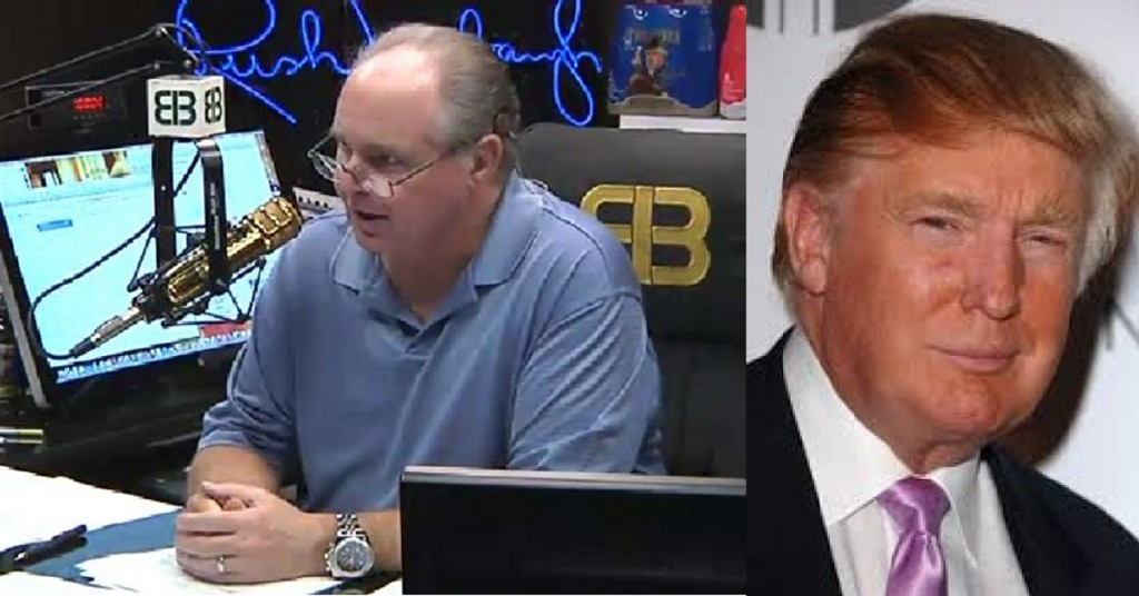 Rush Limbaugh and Donald Trump