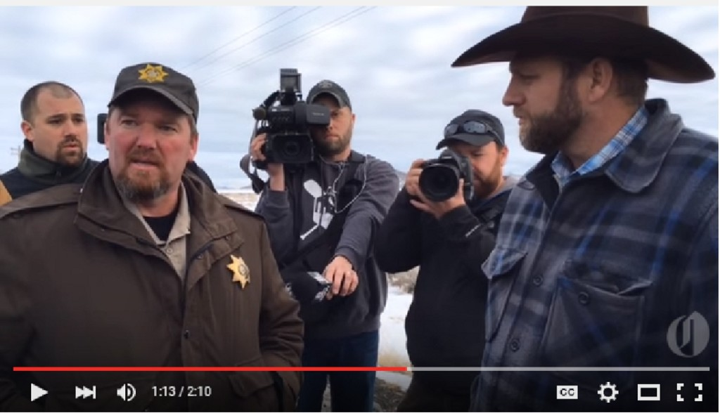Ammon Bundy meets Sheriff Dave Ward