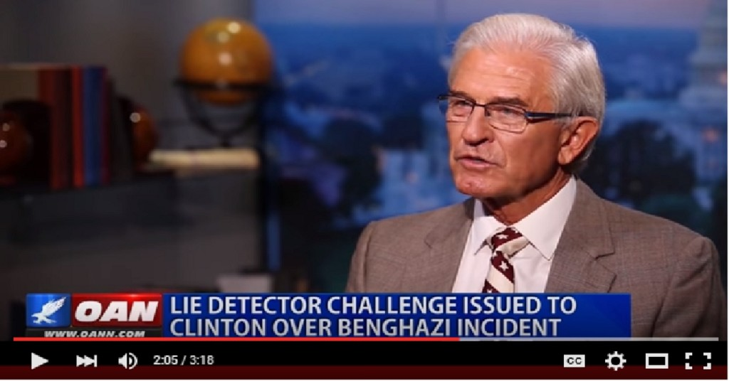 Charles wood challenges hillary to lie detector test
