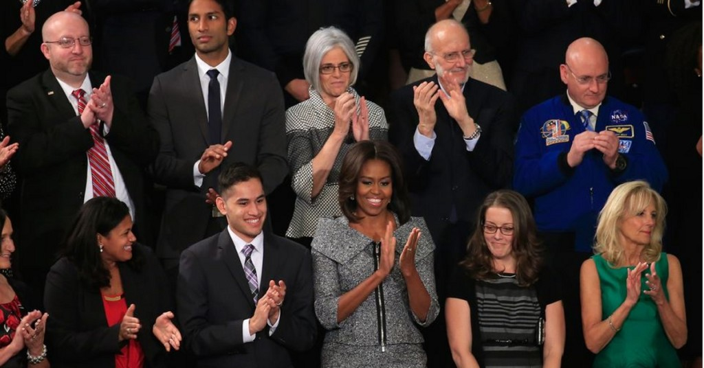 Michelle Obama to sit with syrian refugee